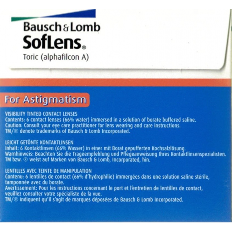 SofLens Toric by Bausch   Lomb, monthly lenses online at Lensdeal. d156550a5342
